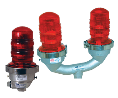 Aircraft Warning Light L-810 Red Beacon Double Incandescent Tower Obstruction Light 230VAC with 3//4 Bottom Hub